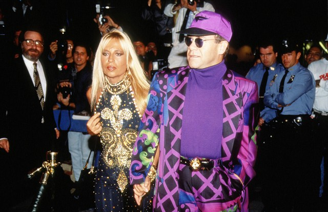 Elton John e Donatella Versace (Foto: Getty Images)