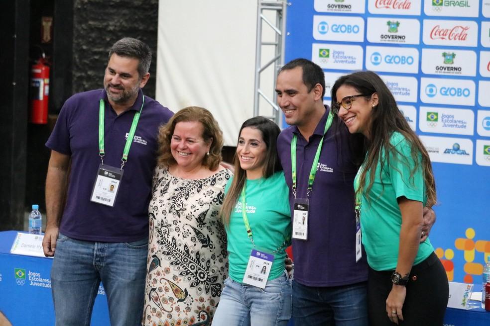 Joanna Maranhão e Daniele Hypolito são embaixadoras — Foto: Augusto Gomes/GloboEsporte.com