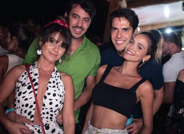 Paula Fernandes, Gustavo Lyra, Kaká e Carol Dias (Foto: Gabriel Siqueira)