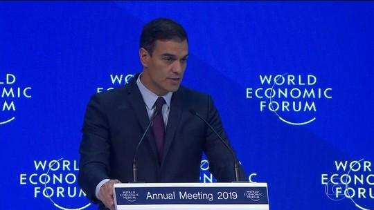 Em Davos, líderes defendem a realização de eleições limpas na Venezuela