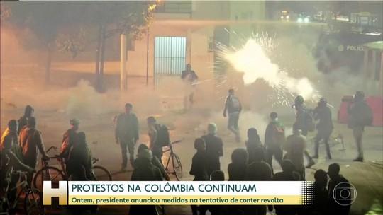 Governo da Colômbia aceita negociar com líderes de protestos; dirigente pretende manter atos