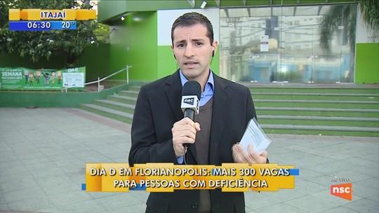 Florianópolis e Blumenau têm 'Dia D' para inclusão de pessoas com deficiência no mercado de trabalho