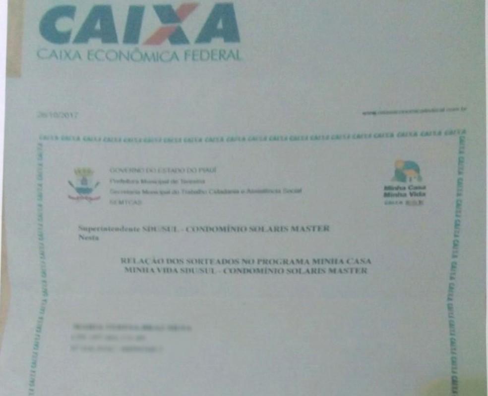 Quadrilha usava documentos da Caixa Econômica Federal e da Prefeitura de Teresina falsificados  (Foto: Divulgação/ Jairo Braz)