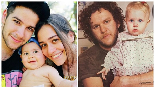 Alessandra Negrini homenageia os ex-maridos Murilo Benício e Otto: 'Parabéns, papais!'