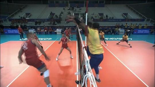 Brasil perde para time B da Sérvia e perde liderança na Liga das Nações de vôlei masculino