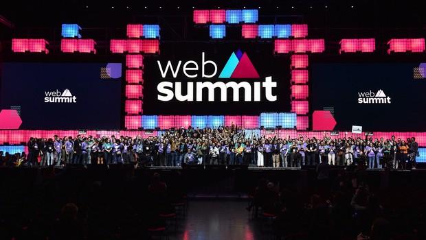 Palco principal do Web Summit 2019, evento realizado em Lisboa (Foto: Sam BarnesWeb Summit via Sportsfile)