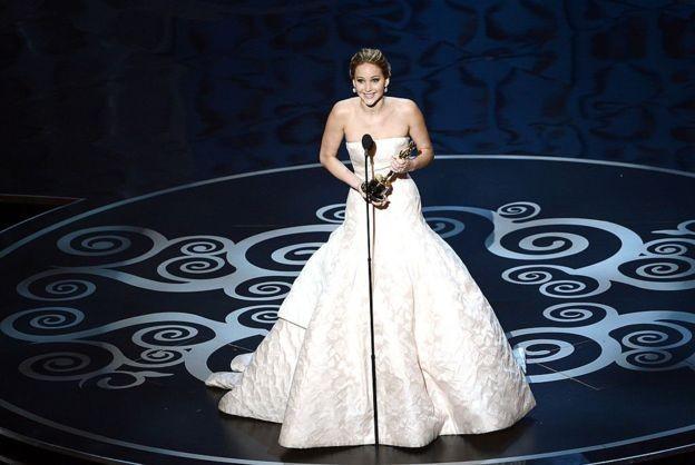 A vencedora do Oscar Jennifer Lawrence é uma das estrelas que participou de filmes de super-heróis (Foto: Getty Images via BBC News Brasil)