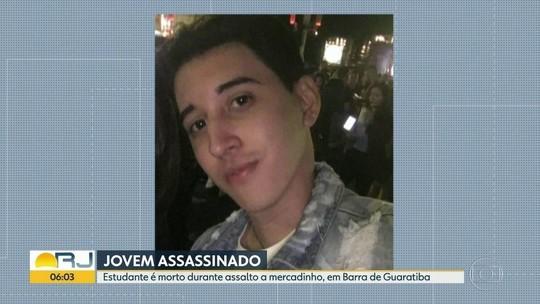 Jovem é morto ao tentar defender a mãe em assalto no Rio