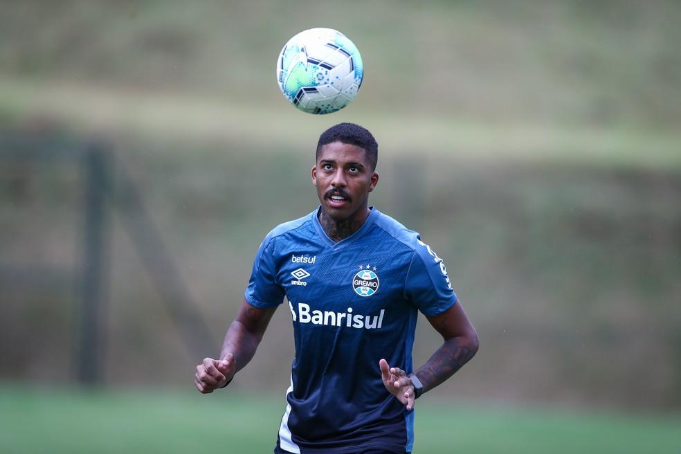 Jean Pyerre pode voltar ao Grêmio após lesão — Foto: Lucas Uebel/Grêmio