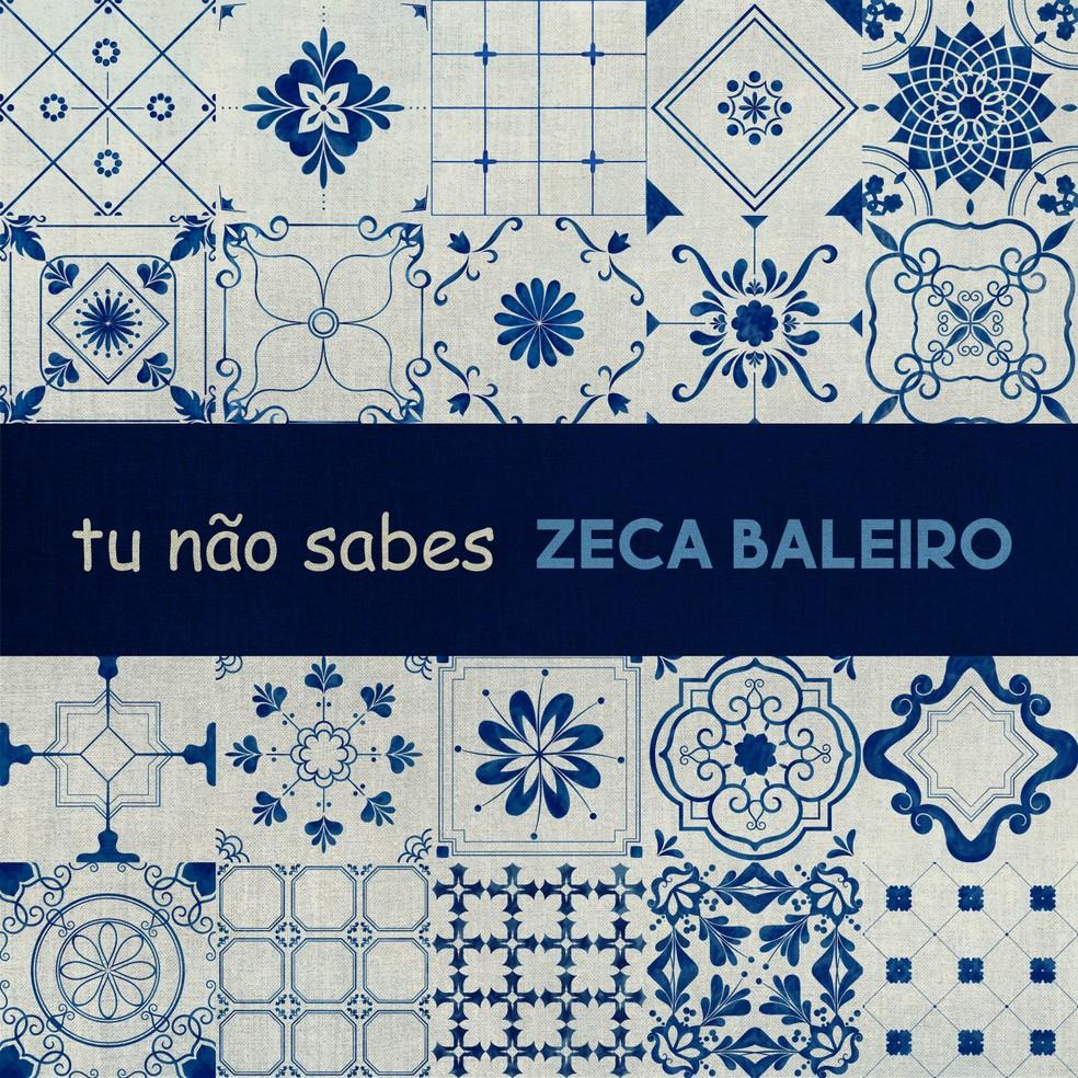 Capa do single 'Tu não sabes', de Zeca Baleiro — Foto: Divulgação
