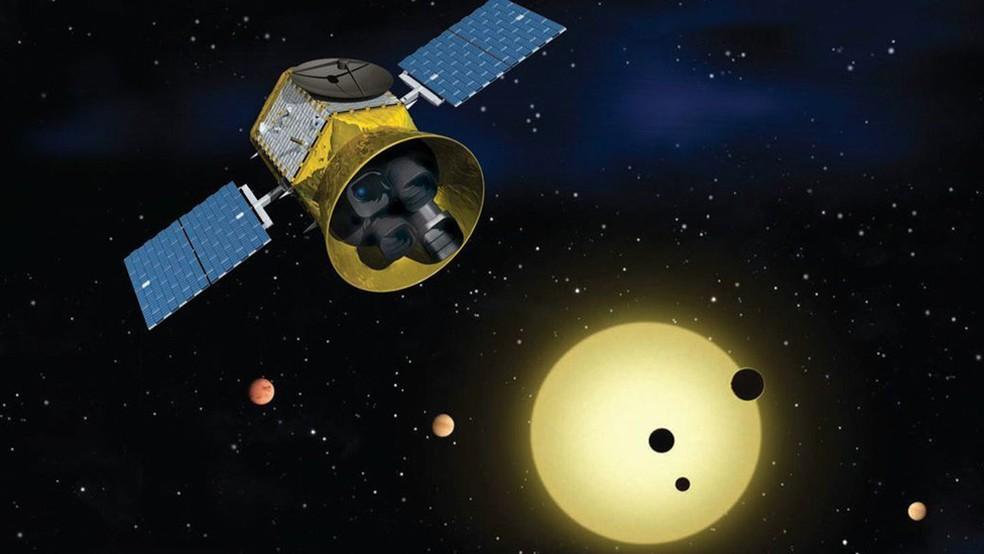 -  Missão Tess almeja mapear uma grande porção do céu em busca de exoplanetas que orbitem estrelas  Foto: Nasa