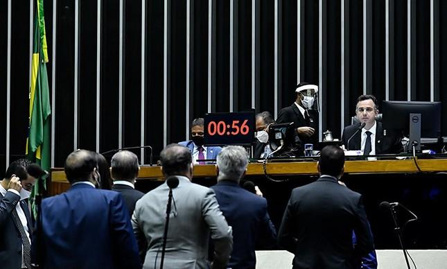Sessão do Congresso em que foi aprovado Orçamento de 2021
