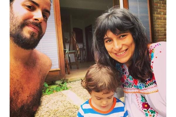 Fabio Cruañes, João e Julia (Foto: Acervo pessoal)
