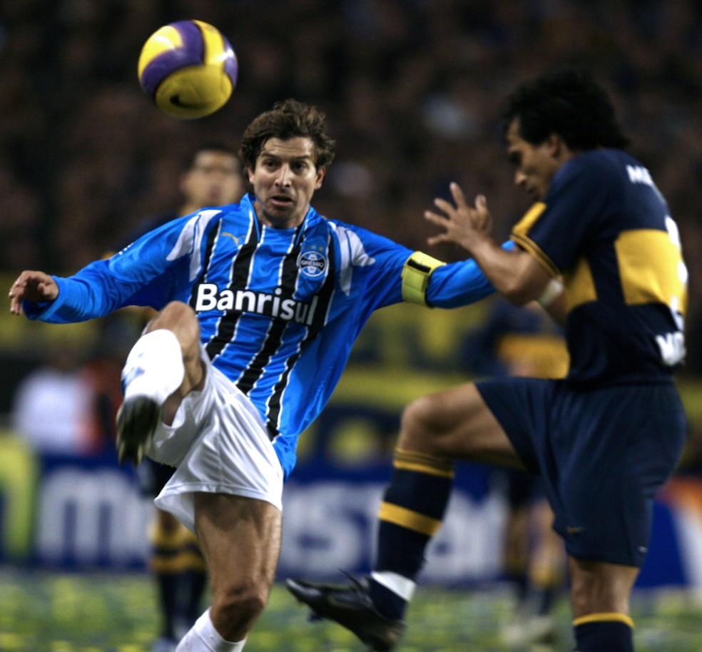 Grêmio de 2007 caiu na final para o Boca Juniors (Foto: AFP)