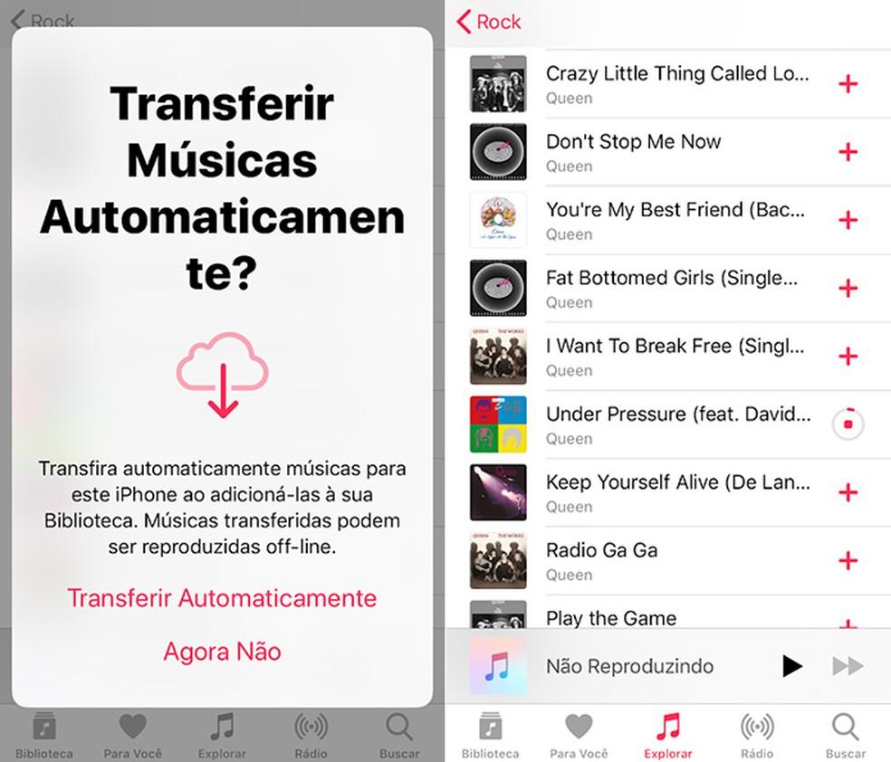 Além de ser nativo nos dispositivos iOS, o Apple Music conta com um catálogo com 30 milhões de músicas — Foto: Reprodução/Amanda de Almeida