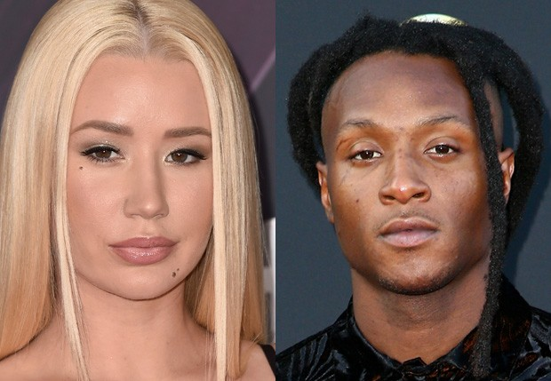 Iggy Azalea e DeAndre Hopkins (Foto: Getty Images)