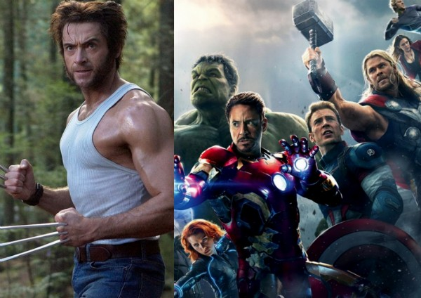 Hugh Jackman como o herói Wolverine e os Vingadores da Marvel (Foto: Reprodução)