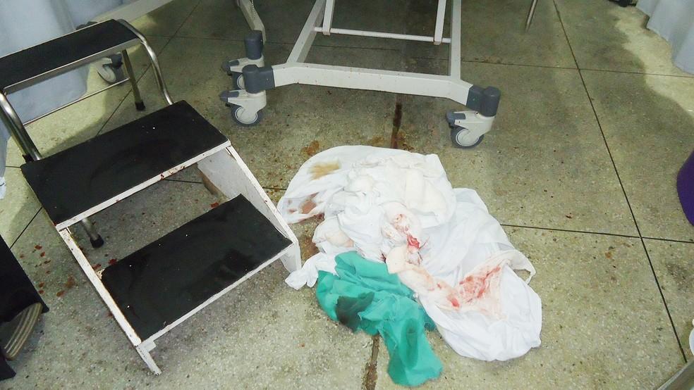 Condições de higiene precária estão entre as irregularidades observadas pelo CRM-PB, durante fiscalziação na Maternidade Frei Damião, em João Pessoa — Foto: CRM-PB/Divulgação