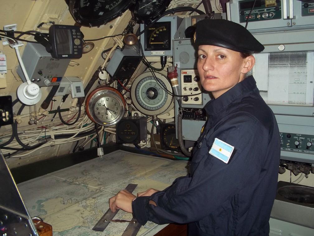 Eliana María Krawczyk, primeira oficial submarinista argentina e uma das 44 pessoas no submarino desaparecido ARA San Juan (Foto: Marinha da Argentina/AFP)