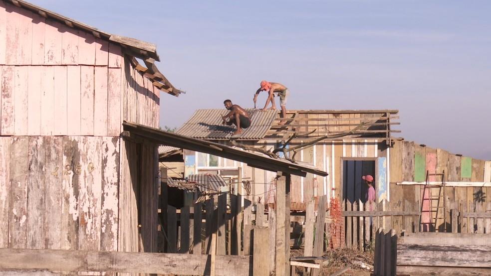 Reintegração de posse foi realizada em Ariquemes nesta terça-feira (8) — Foto: William Andrade/Rede Amazônica