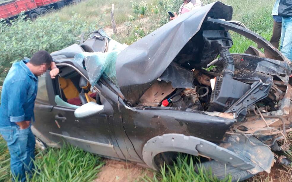 Acidente aconteceu na manhã desta terça-feira (24), na BA-026 (Foto:  Blog Itiruçu Online)