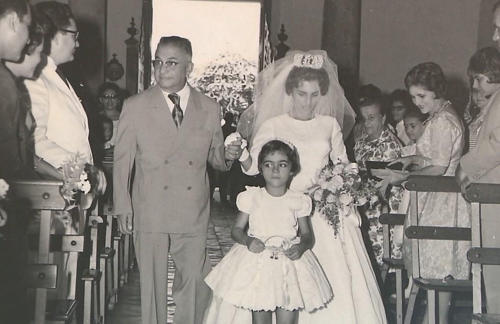Suzana de Moura Melo e Celso Augusto de França relembram casamento que aconteceu há 58 anos — Foto: Reprodução/TV Cabo Branco