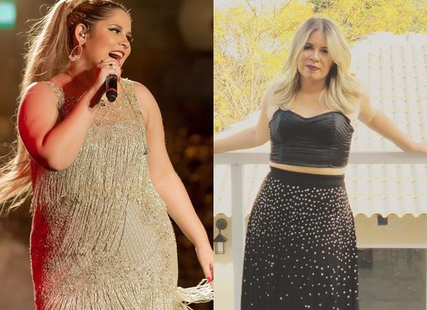 Marília Mendonça antes e depois (Foto: Reprodução/Instagram)