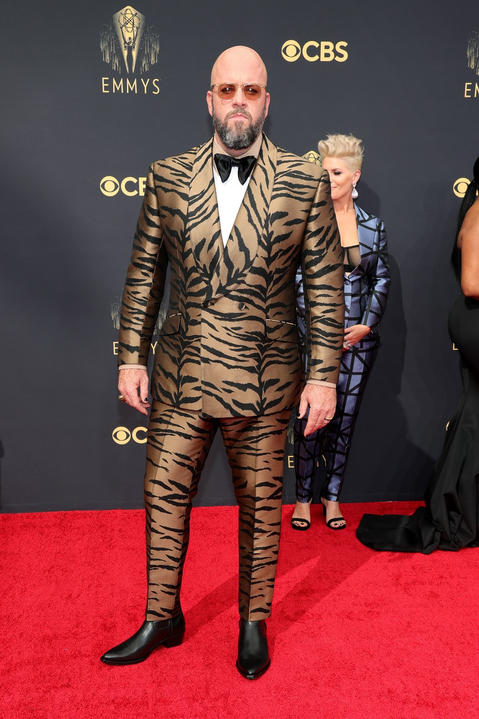 Chris Sulivan chega ao Emmy 2021 — Foto: Rich Fury/Getty Images North America/Getty Images via AFP