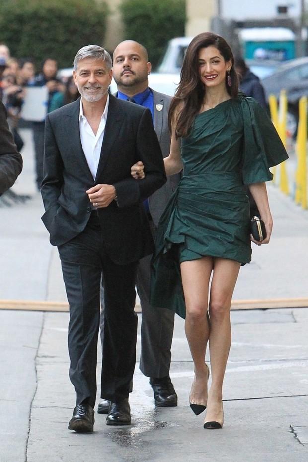 George e Amal Clooney (Foto: Backgrid)