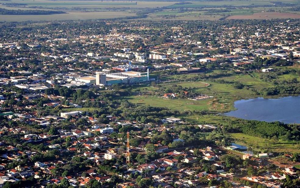 Vista da cidade de Dourados (MS) — Foto: Divulgação/Prefeitura de Dourados