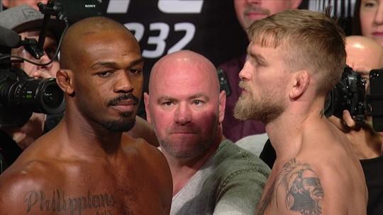 Alexander Gustafsson e Jon Jones fazem a encarada pelo peso-meio-pesado no UFC 232