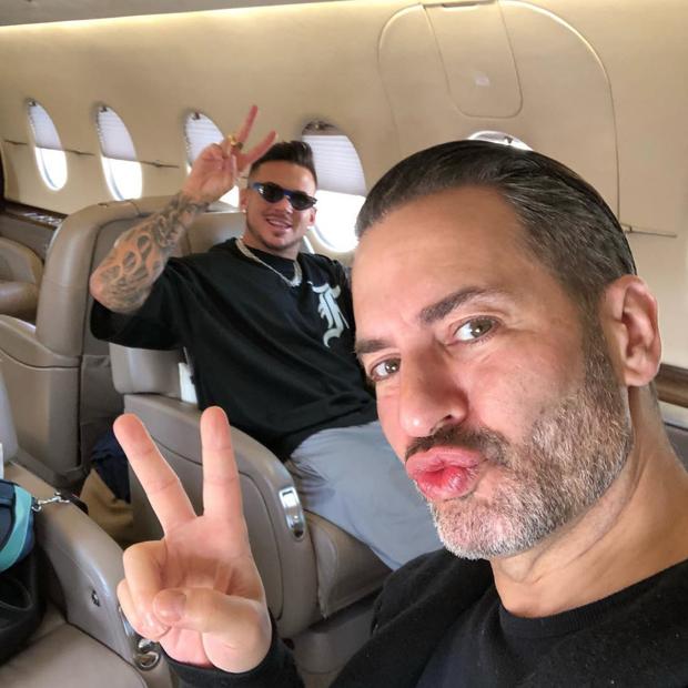 Marc Jacobs e Charles de Francesco (Foto: Instagram Marc Jacobs/ Reprodução)