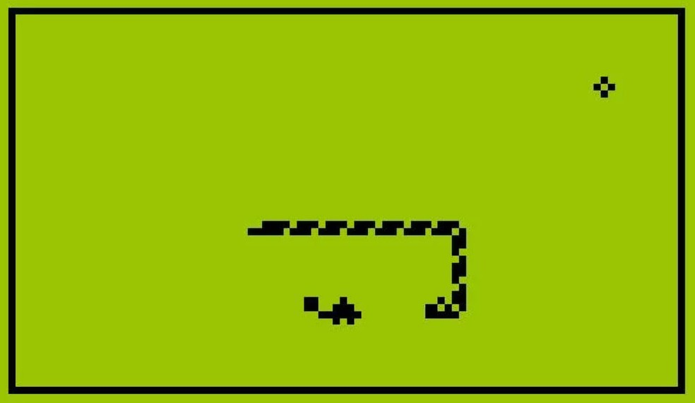 Snake: jogo da cobrinha se tornou um fenômeno na época do Nokia 3310 — Foto: Reprodução/Nokia