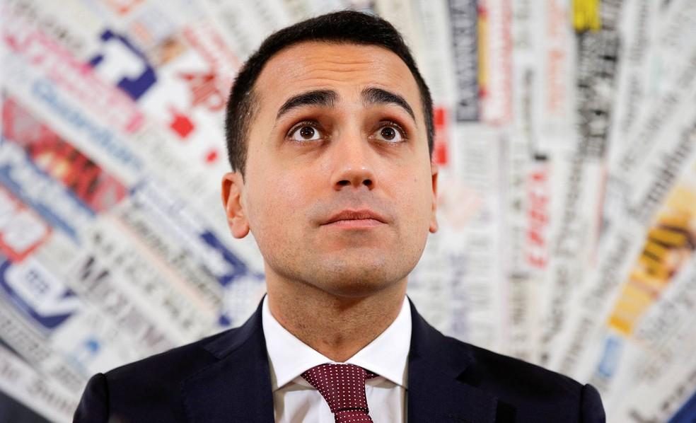 Luigi Di Maio (2º da esq. para direita) é membro do Movimento Cinco Estrelas e vice-presidente da Câmara de Deputados italiana  (Foto: Max Rossi/Reuters)