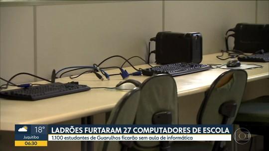 Ladrões furtam 27 computadores de uma escola estadual de Guarulhos