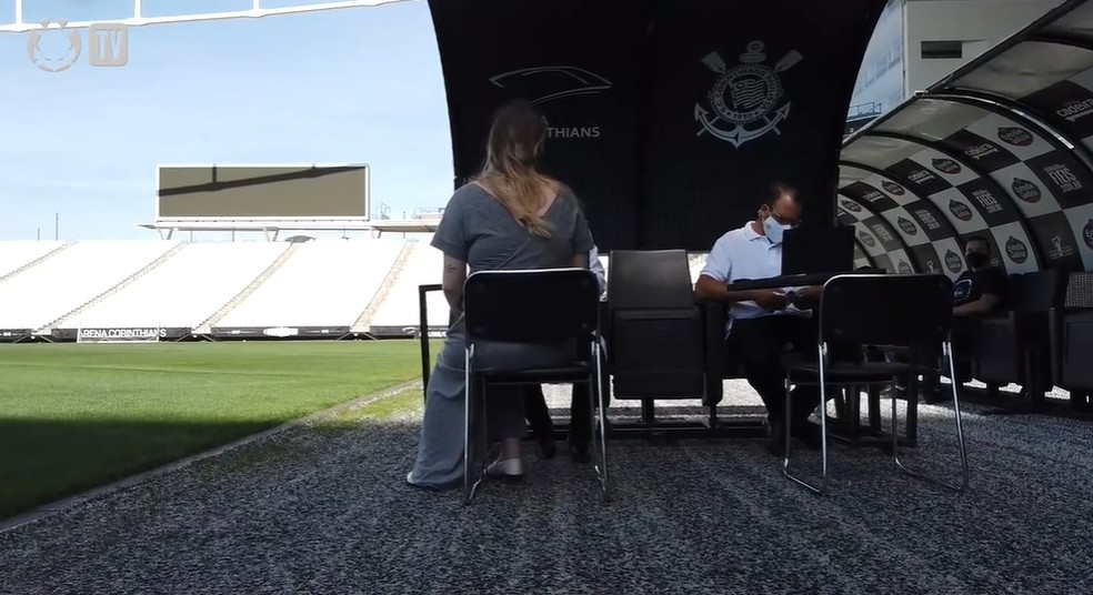 Estádio deve receber novos colaboradores do Corinthians para exames — Foto: Reprodução/Corinthians TV