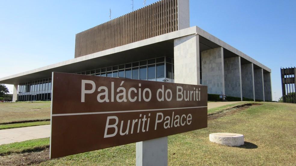 Palácio do Buriti, sede do governo do Distrito Federal — Foto: Raquel Morais/G1