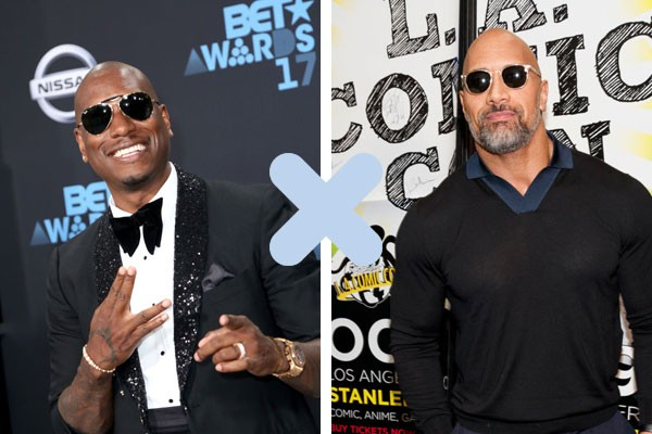 "Tyrese Gibson X Dwayne ""The Rock"" Johnson (Foto: Getty Images)"