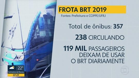 Passageiros sofrem com superlotação no BRT