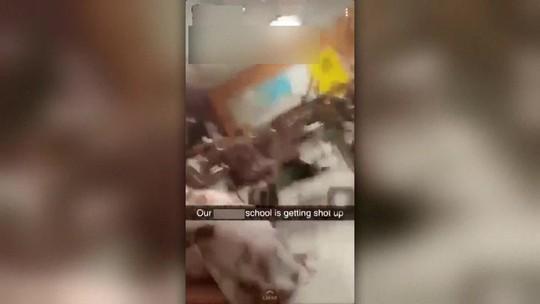 VÍDEO feito de dentro de escola mostra tiros que mataram 17