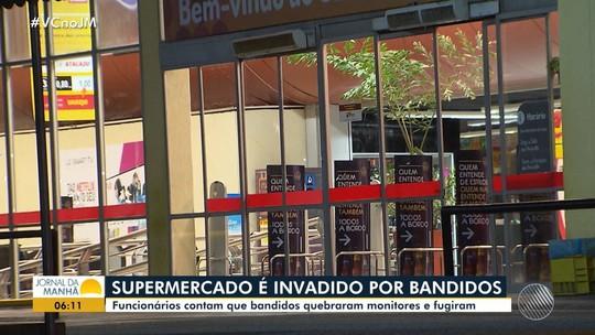 Assaltantes invadem supermercado na Avenida ACM, em Salvador