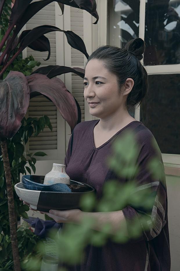 Haydee Uekubo ex-diretora de arte (ela usa Tamaki Niime para Furoshiki) (Foto: Jorge Sato)