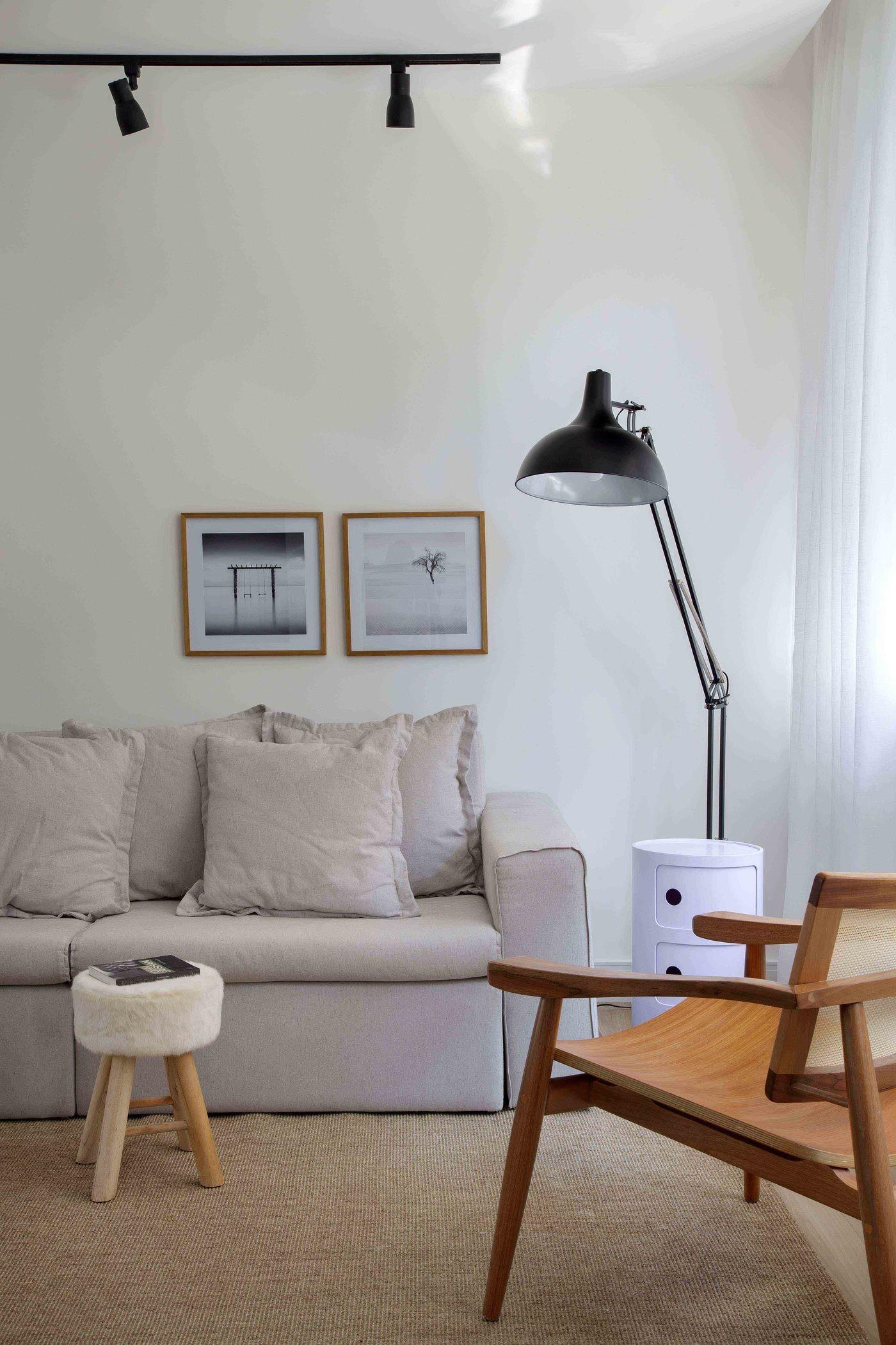 Décor do dia: estilo neutro e praticidade na sala de estar (Foto: Divulgação)