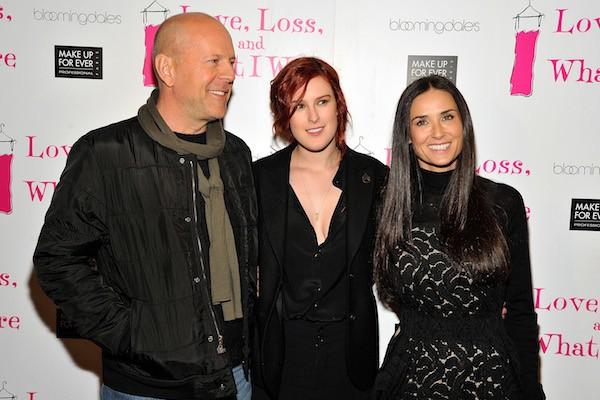 Bruce Willis e Demi Moore com a filha mais velha, Rumer Willis (Foto: Getty Images)