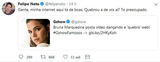 Post de Felipe Neto (Foto: Reprodução/Twitter)