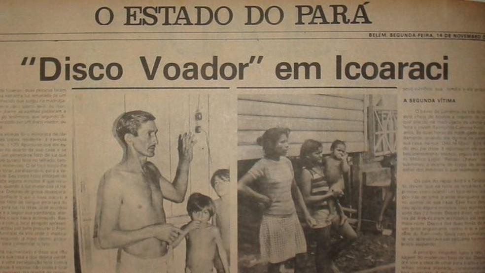Rapport de 'O Estado do Pará';  opération a produit une collection de milliers de documents, photos et vidéos — Photo : Carlos Mendes collection via BBC