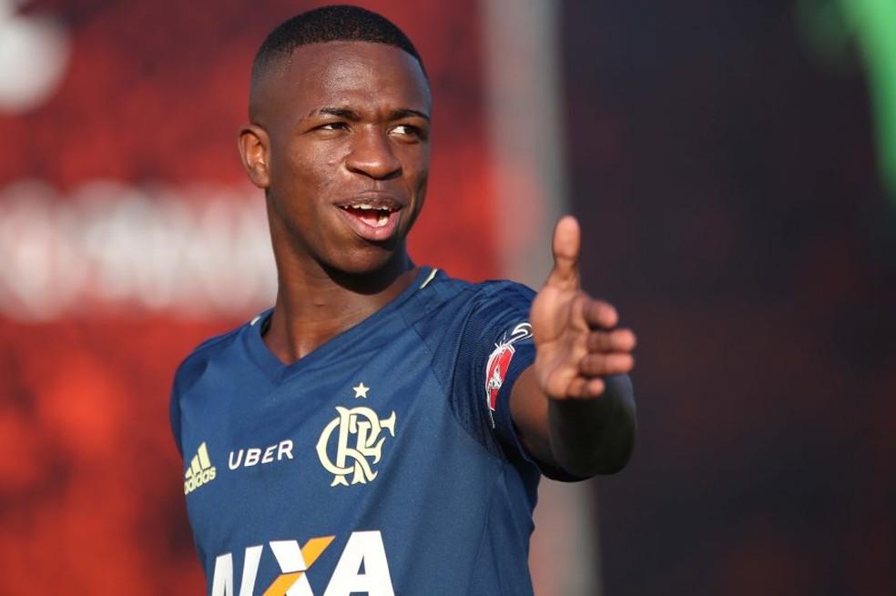 Vinicius  Junior: venda de promessa para o Real Madrid aumenta arrecadação  (Foto: Gilvan de Souza/Flamengo)