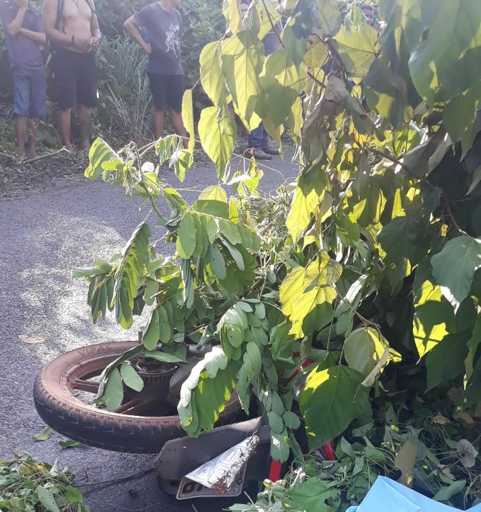 Acidente deixa uma motociclista morto na Zona Rural de Teresina — Foto: Divulgação/PM