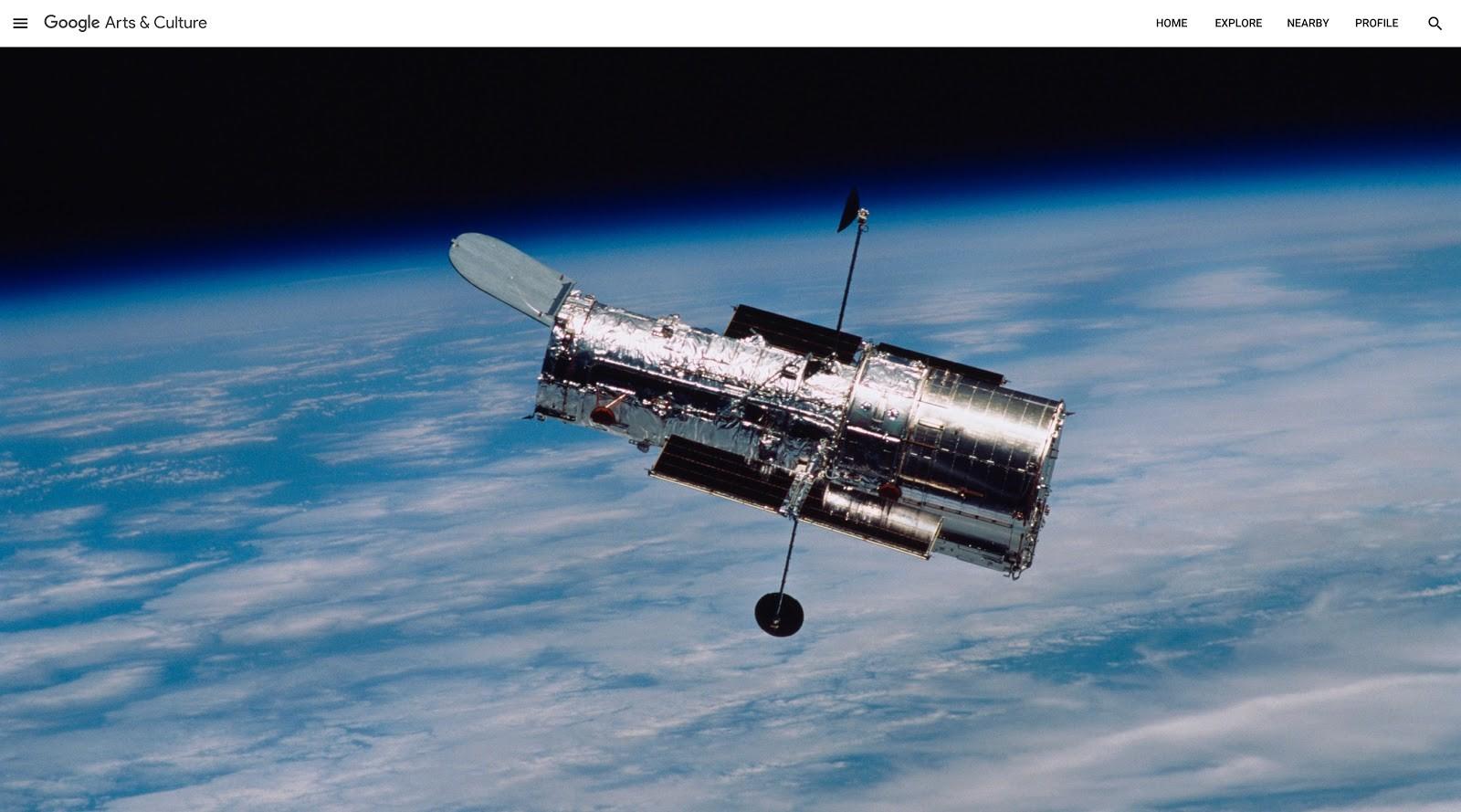 Telescópio Espacial Hubble em órbita - NASA (US) (Foto: Divulgação: Google)