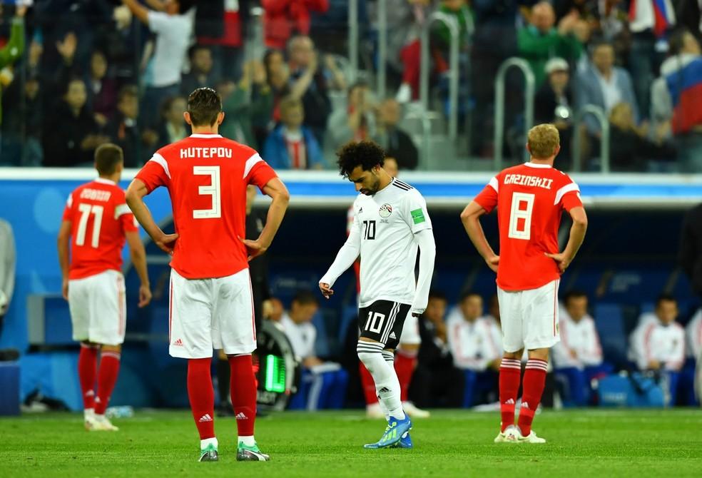 Rússia vence o Egito de Salah e fica perto das oitavas (Foto: Dylan Martinez/Reuters)